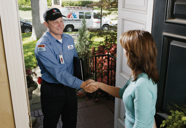 in-home estimate from Bob Brown Service Experts Heating & Air